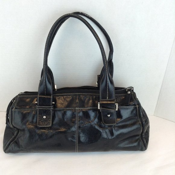 Arnold Churgin Black Leather Purse